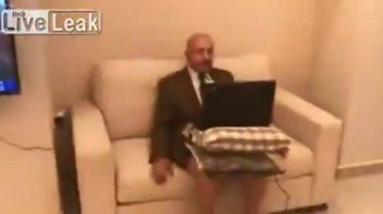 სახალისო ვიდეო-პირდაპირი ჩართვა არაბულ ტელევიზიაში