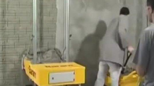 კედლის შესალესი დანადგარი, რომელიც 10 ხელოსანს ფორას მისცემს ერთად