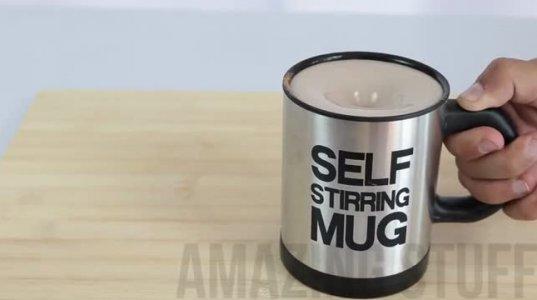 Self Stirring Mug-ჭიქა,რომელსაც კოვზი არ სჭირდება მორევისთვის