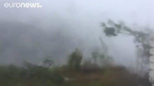 """ქარიშხალი """"ირმა"""" ბობოქრობს(აშშ,ვირჯინიის კუნძულები)"""