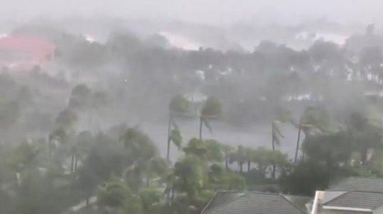 """ქარიშხალი """"ირმა"""" ბობოქრობს-უახლესი  ვიდეო ფლორიდიდან"""