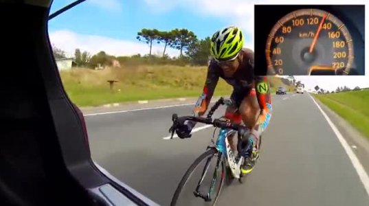 ველოსპიპედისტმა სწორ გზაზე 150კმ/სთ სიჩქარე განავითარა