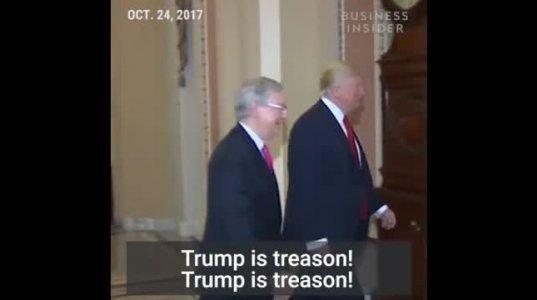 """""""ტრამპი მოღალატეა"""" - აშშ-ის პრეზიდენტს რუსეთის დროშები შეაყარეს"""