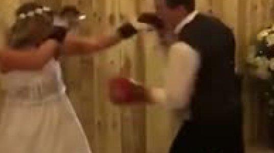 ქორწილზე  ნეფე-დედოფალმა  მუშტი-კრივი გააჩაღა