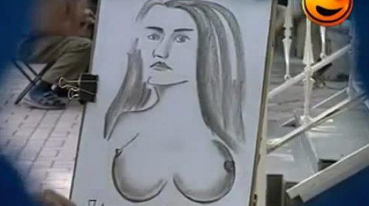 ხუმარა მხატვარი როგორ აწვალებს გოგოებს