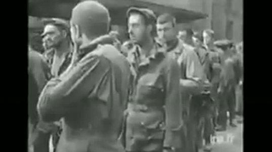 1944 წელი, გერმანელების ამერიკელ ტყვეებს ფრანგი კაცები და ქალებიც კი ხელს ურტყამენ