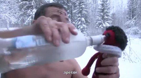 რა სასმელია ასეთი, კაცი, რომ გააგიჟა და ტრუსისამარა დადის მუხლამდე თოვლში