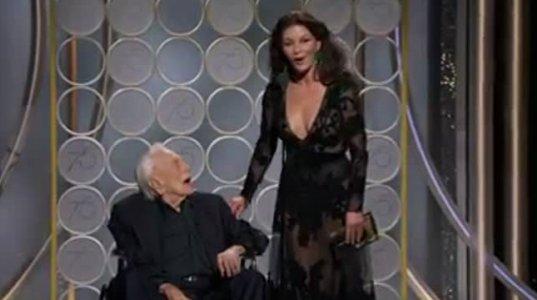 ლეგენდარული კირკ დუგლასი რძალთან კეტრინ ზეტა ჯონსთან ერთად