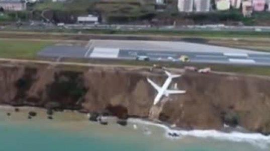 ტრაბზონის აეროპორტში Pegasus-ის თვითმფრინავი დაშვებისას მოცურდა და ფერდობზე ჩაცურდა