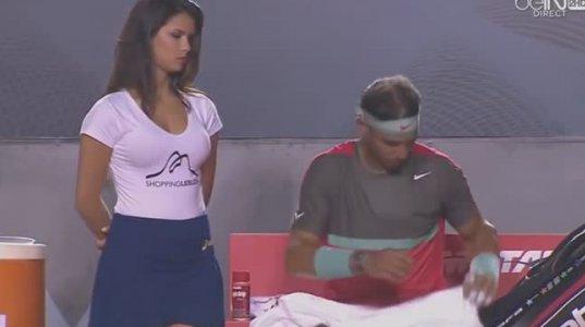 დადნა გოგო Rafael Nadal-ის ყურებით