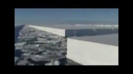 ანტარქტიდა...ვინ და რით დაჭრა ყინულის უზარმაზარი ფილები!!!