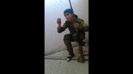 ქურთი სნაიპერი ქალი სასწაულებრივად გადაურჩა ISIS-ის მებრძოლის ტყვიას