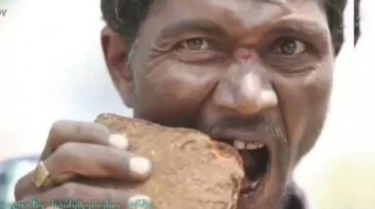 ადამიანი რომელიც მხოლოდ ქვებით იკვებება - ყველაზე უცნაური ადამიანი
