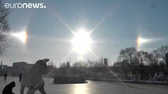ჩინეთში ცაზე სამი მზე გამოჩნდა