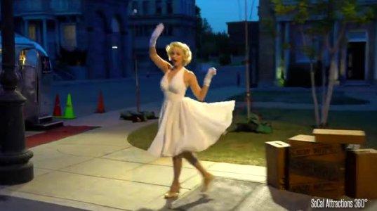 მერილინ მონროს სცენა ღამით, უნივერსალ სტუდიოში- კინოწარმოება ჰოლივუდში 2015