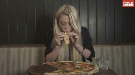 უზარმაზარი პიცა შეჭამა