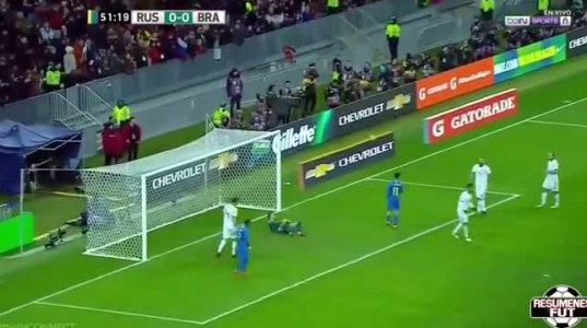რუსეთი -ბრაზილია 0 :3-ამხანაგური მატჩი მსოფლიო ჩემპიონატის წინ