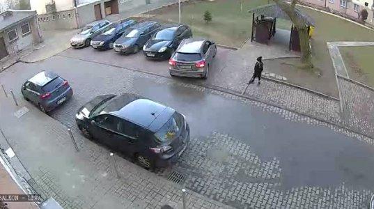 ძლივს გამოიყვანა პარკირებიდან მანქანა