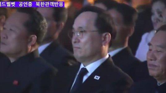 ჩრდილოეთ კორეული ჯგუფის Red Velvet ის სიმღერის დროს მაყურებლების რეაქცია