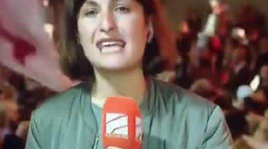 კურიოზი რუსთავი 2-ის ეთერში - რა შეემთხვა ჟურნალისტს პარლამენტთან აქციისას