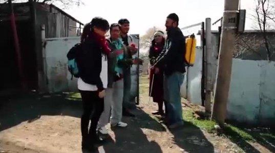 უცხოელი ტურისტები კახეთში - ვიდეო ანეკდოტი