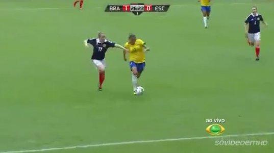ეს ბრაზილიელი გოგოების გუნდი უნდა ათამაშო ჩვენს ეროვნულ ნაკრებთან, შერცხვეთ ეგებ და ითამაშონ