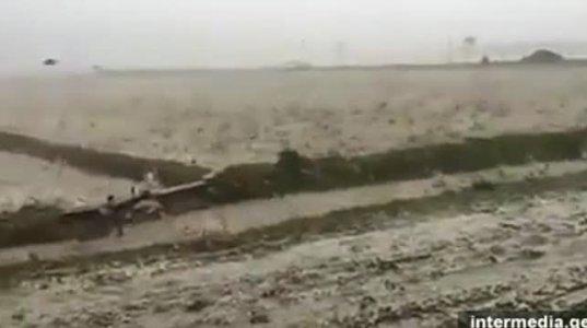 ქვების წვიმა თურქეთის ქალაქ სინოპში - წარმოუდგენელი კადრები (ვიდეო)