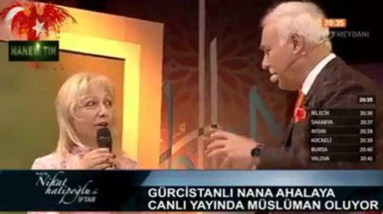 ქართველმა ქალმა პირდაპირ ეთერში მიიღო ისლამი თურქეთში