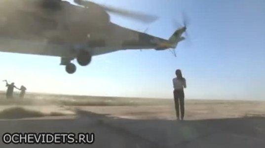 სამხედრო ჟურნალისტ ქალს ვერტმფრენის ხრახნი თავს წააცლიდა, რომ არა პილოტის რეაქცია