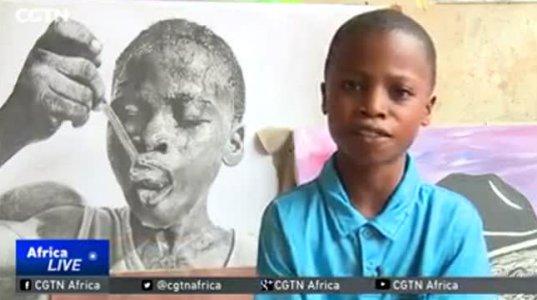 11 წლის უნიჭიერესი და გენიალური მხატვარი ნიგერიიდან მსოფლიოს აოცებს