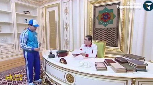 თურქმენეთის პრეზიდენტმა შვილიშვილთან ერთად გარეპა - როგორ ატარებენ ერთად თავისუფალ დროს ბაბუა და შვილიშვილი