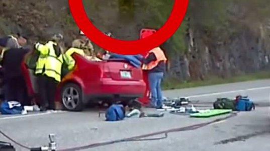 ავარიის ადგილას თვითმხილველებმა ნამდვილი სასწაული იხილეს - რთულია ამის მერე არ იწამო!