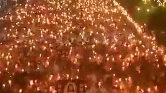 ორი მილიონი ფილიპინელი გამოვიდა, მანილას  ცენტრალურ გამზირზე ქრისტეს სადიდებლად