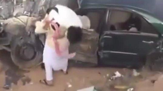არაბების დრიფტი მძიმე ავარიით დასრულდა