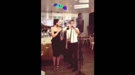როგორ იმღერა თათია დოლიძემ მეგობრის ქორწილში