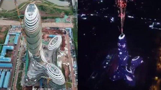 ჩინეთში ააგეს ცათამბჯენი,რომელსაც უმალ ხალხმა კაცის სასქესო ორგანოს სახელი შეარქვა