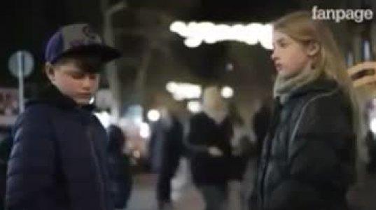 11-12 წლის ბიჭების რეაქცია როცა მათ ეუბნებიან რომ გოგოს დაარტყან..აბა მერე რა ავირებს ზოგიერთებს?