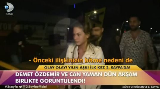 Demet Özdemir & Can Yaman -პაპარაცებს ვერ ემალებიან