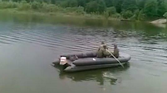 """მორიგმა რუსულმა  """"უანალოგო"""" მძიმე ტექნიკამ წაიღო ჩვენი ჭირი და მდინარეში ჩაიძირა"""