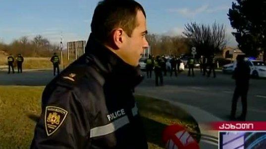 ოპოზიციის კოლონას გომბორის უღელტეხილთან საპატრულო პოლიციამ გზა გადაუკეთა