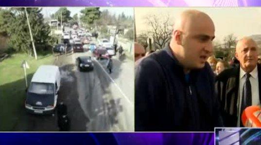 ხმაური და დაპირისპირება გურჯაანში - აქციის მონაწილეებმა პოლიციის კორდონი გაარღვიეს