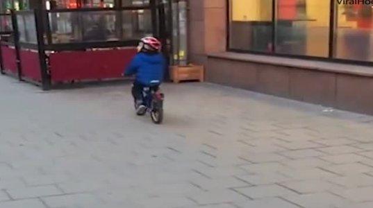 უკანალის დანახვამ პატარა ბიჭიც გამოაშტერა და ნახეთ რა დაემართა