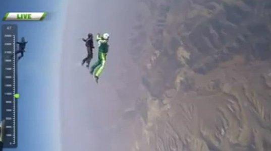 ამერიკელი სქაიდაივერის გადმოხტომა პარაშუტის გარეშე 7600 მეტრიდან