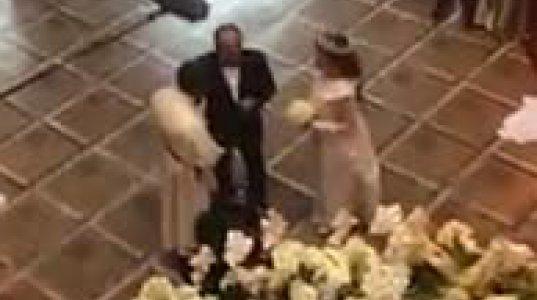 ნოე სულაბერიძის და ჯანეტ ქერდიყოშვილის ქორწილის პირველი კადრები ვრცელდება (ვიდეო)