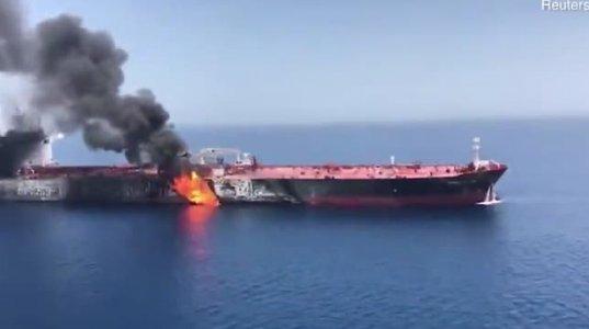 უახლესი ინფორმაციით ახლო აღმოსავლეთში ნავთობის ტანკერი აფეთქდა