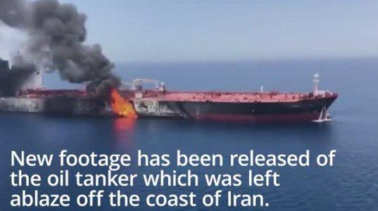 """""""reuters"""" - ის ინფორმაციით ნავთობის გემი აფეთქდა ახლო აღმოსავლეთში"""