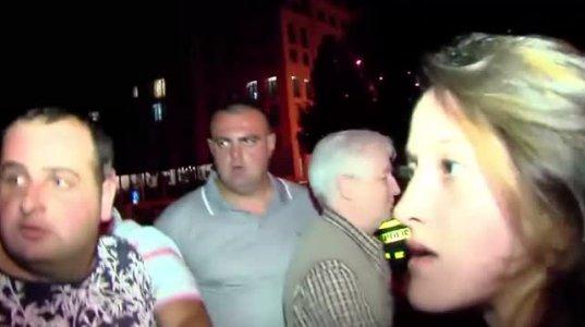 ჟურნალისტს მამაკაცმა თმა მოქაჩა და ხელი ჩაარტყა