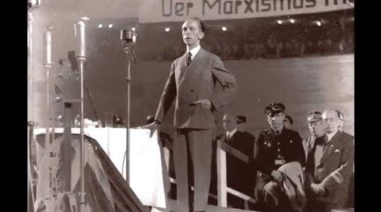 Goebbels discursa contra os judeus e marxistas no Sportpalast 1933