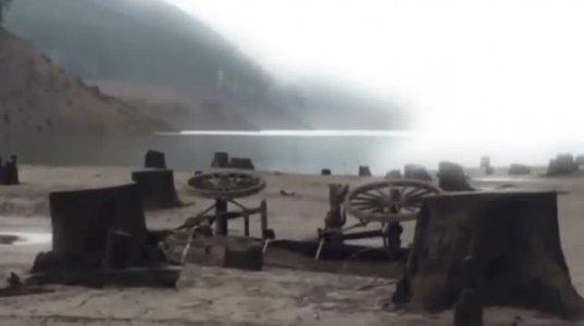2015 წელს ამომშრალი ტბა  და  აღმოჩენილი  ძველი ქალაქი