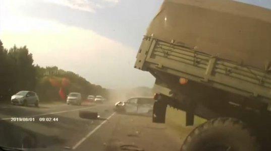 დიდი ალბათობით რუს სამხედრო მოსამსახურეს ჩაეძინა და ცენტრალურ მაგისტრალზე საშინელი ავარიის  მიზეზიც გახდა